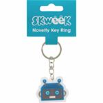 SKWEEK KEY RING SKWEEK NOVELTY RUBBER BLUE(EACH)