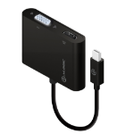ALOGIC 2-in-1 Mini DisplayPort to 4K HDMIVGA Adapter - Male to 2-Female