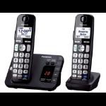 Panasonic KX-TGE232B DECT telephone Caller ID Black telephone