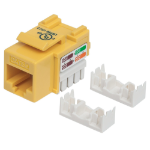 Intellinet Keystone Jack, Cat5e, UTP, Punch-down, Yellow