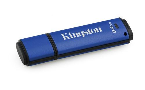 Kingston Technology DataTraveler Vault Privacy 3.0 64GB USB flash drive USB Type-A 3.2 Gen 1 (3.1 Gen 1) Blue
