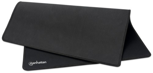 Manhattan XL Gaming Mousepad Smooth Waterproof Top Surface, Stitched Edges, Black