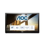 "AOC Style-line I1659FWUX computer monitor 39.6 cm (15.6"") 1920 x 1080 pixels Full HD LCD Black"
