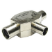 Cables Direct 3-COAXFMFMTL cable splitter/combiner Silver