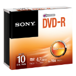 SONY DVD-R 16X SLIM CASE 10 PACK