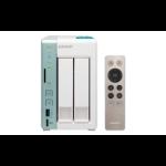QNAP TS-251A N3060 Ethernet LAN Tower Mint colour, White NAS