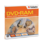 Verbatim DVD-RAM 4.7GB 3X Single-Sided Type 4 Cartridge