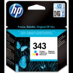 HP 343 Origineel Cyaan, Magenta, Geel 1 stuk(s)