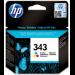 HP 343 Original Cian, Magenta, Amarillo 1 pieza(s)