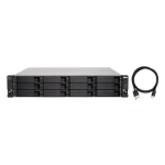 "QNAP TL-R1200C-RP storage drive enclosure 2.5/3.5"" HDD/SSD enclosure Black,Grey"