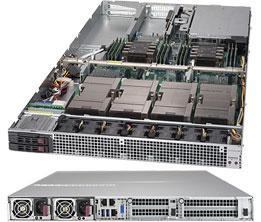 Supermicro SYS-1029GQ-TVRT server barebone Intel C621 LGA 3647 Rack (1U) Black
