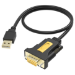 Vision TECHCONNECT USB SERIAL ADAPTOR Engineered connectivity solution, Black, USB 2.0 to RS232 (DB9 9 pin)