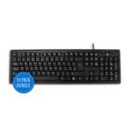 V7 KU100UK Standard Keyboard (UK, English, USB, Media-Hot-Keys) black, 10 pack bundle