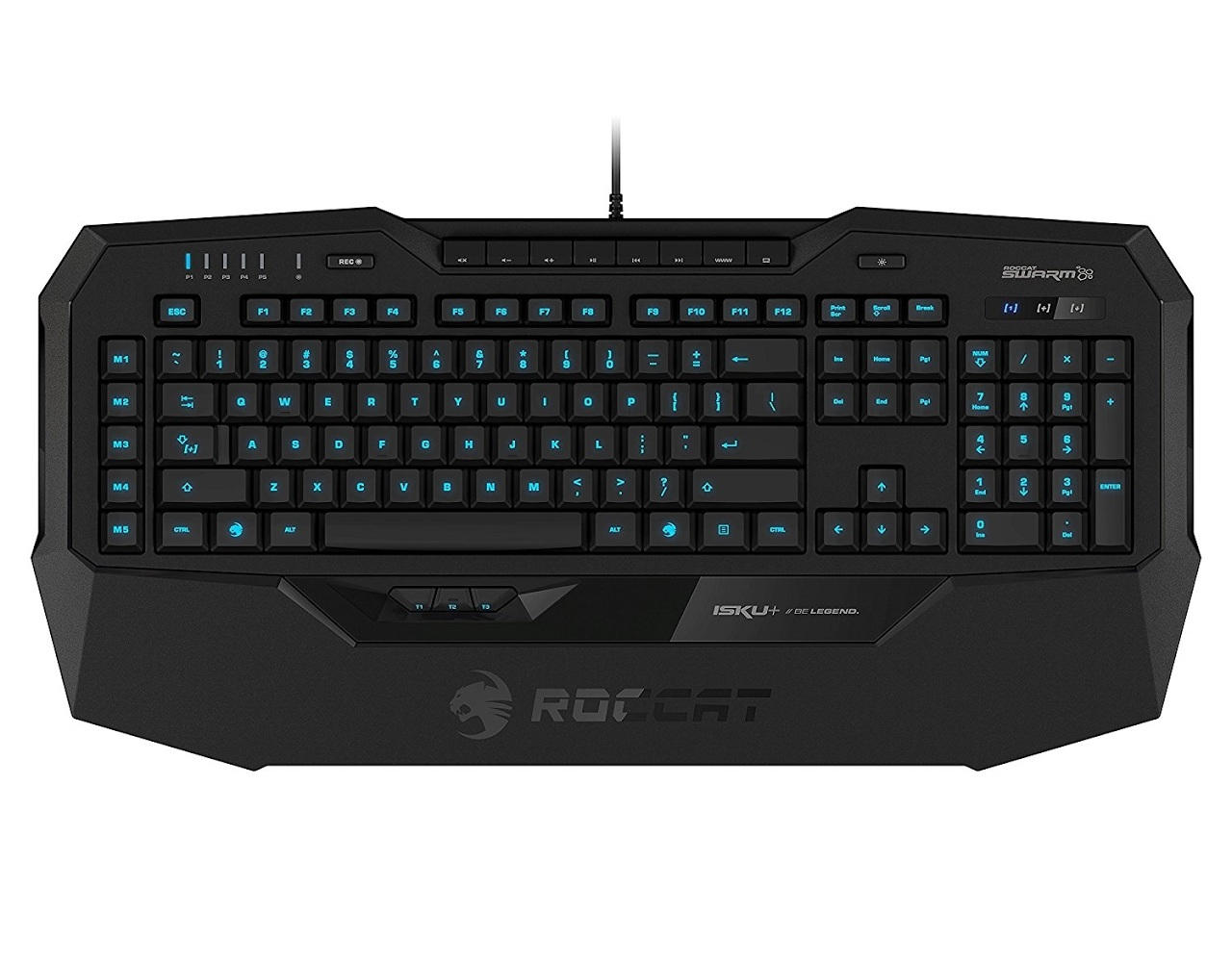 ROCCAT Isku+ UK USB QWERTY UK English Black