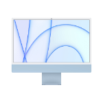"Apple iMac 61 cm (24"") 4480 x 2520 Pixeles Apple M 8 GB 256 GB SSD PC todo en uno macOS Big Sur Wi-Fi 6 (802.11ax) Azul"