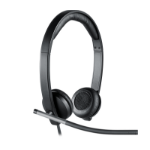 Logitech H650e Binaural Head-band Black,Silver