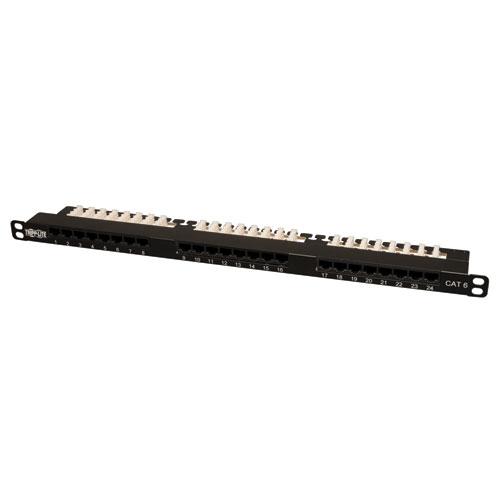 Tripp Lite 24-Port 0.5U Rack-Mount Cat6 / Cat5 110 Patch Panel 568B, RJ45 Ethernet