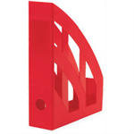 Q-CONNECT Q CONNECT MAGAZINE RACK RED