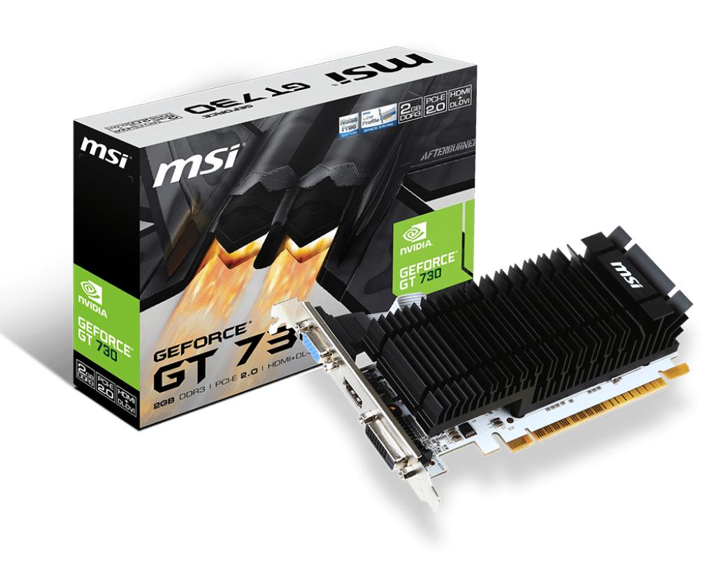 MSI GT 710 2GD3H LP graphics card NVIDIA GeForce GT 730 2 GB GDDR3