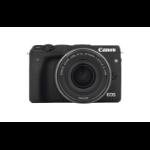 Canon EOS M3 MILC Body 24.2MP CMOS 6000 x 4000Pixels Zwart