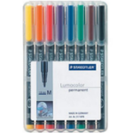 Staedtler 317 WP8 permanent marker Black, Blue, Brown, Green, Orange, Red, Violet, Yellow 8 pc(s)