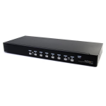 StarTech.com 8 Port Rackmount USB VGA KVM Switch w/ Audio (Audio Cables Included) SV831DUSBAU