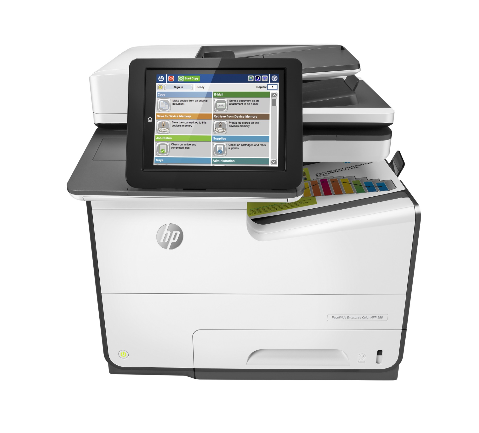 HP PageWide Enterprise Color 586dn Inyección de tinta térmica 50 ppm 2400 x 1200 DPI A4