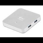 i-tec U3HUBMETAL4 5000Mbit/s Silver interface hub