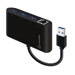 ALOGIC USB 3.0 SuperSpeed 3 Port HUB and Gigabit Ethernet Adapter (Driverless / Plug & Play)