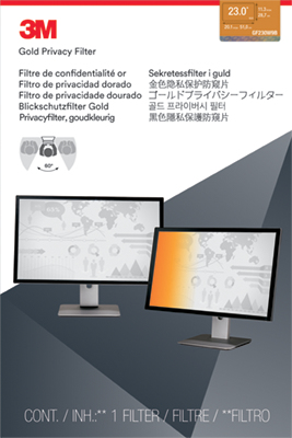 """3M 23.0"""" Widescreen Gold Privacy Filter"""