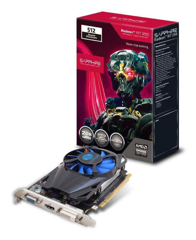 Sapphire Radeon R7 250 2GB GDDR5 AMD Radeon R7 250 2GB 11215-20-20G