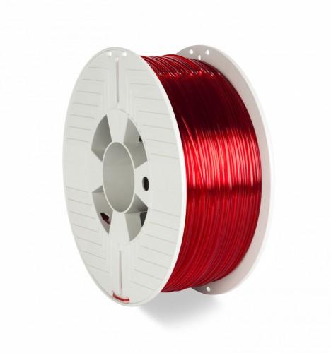 Verbatim 55054 3D printing material Polyethylene Terephthalate Glycol (PETG) Red, Transparent 1 kg