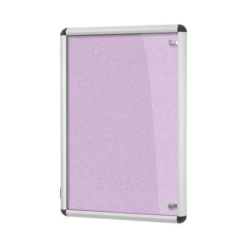 Metroplan Shield Design insert notice board Indoor Aluminium, Lilac Aluminium