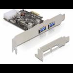 DeLOCK 2x USB 3.0 PCI Express card Internal USB 3.0 interface cards/adapter