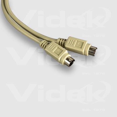 Videk Mini 6 Pin Din M to Mini 6 Pin Din M Cable 1m PS/2 cable