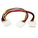 StarTech.com Adaptador Cable en Y Divisor Molex 4 Pines - 2x Hembra y 1x Macho LP4 - Splitter