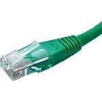 Cablenet 0.3m Cat5e RJ45 Green U/UTP PVC 24AWG Flush Moulded Booted Patch Lead