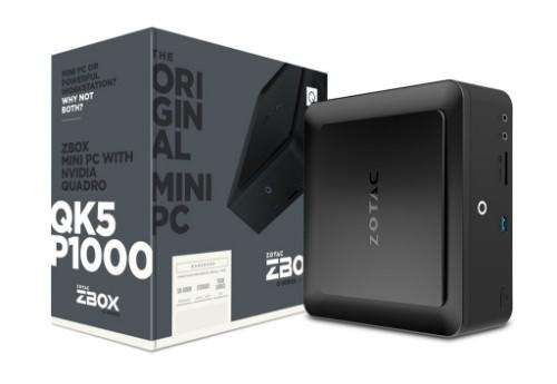 Zotac QK5P1000 7th gen Intel® Core™ i5 i5-7200U 8 GB DDR4-SDRAM 1000 GB HDD Black Mini PC