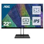 "AOC Value-line 22V2Q pantalla para PC 54,6 cm (21.5"") Full HD LED Plana Mate Negro"