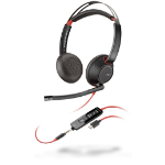 POLY Blackwire 5220 Headset Head-band Black, Red