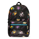 Pokémon Characters All-Over Print Backpack, Black (BP100104POK)