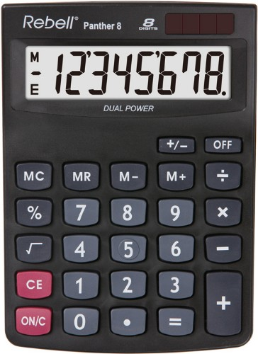 Rebell Panther 8 calculator Desktop Basic Black