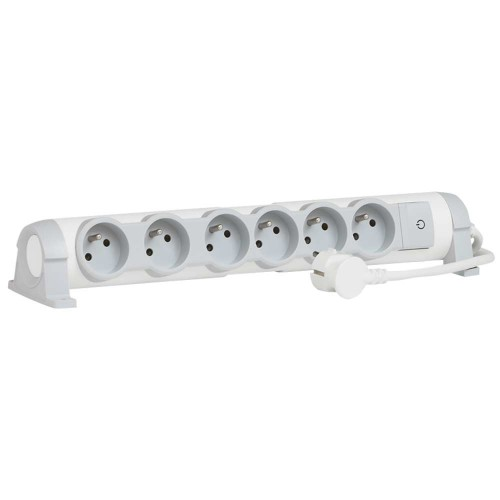 C2G 80820 Indoor 6AC outlet(s) 3m Grey, White power extension