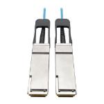 Tripp Lite N28F-20M-AQ QSFP+ to QSFP+ Active Optical Cable - 40Gb, AOC, M/M, Aqua, 20M (65.61 ft.)