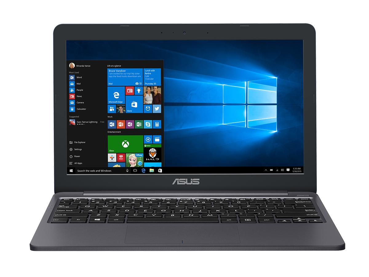 "ASUS VivoBook E203NA-FD084TS notebook Blue, Grey 29.5 cm (11.6"""") 1366 x 768 pixels Intel® Celeron® 4 GB DDR3L-SDRAM 64 GB eMMC Wi-Fi 5 (802.11ac) Windows 10 Home"