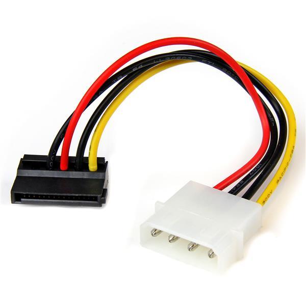 StarTech.com Adaptador Cable 15cm Alimentación SATA Ángulo a la Izquierda 15 Pines a 4 Pines LP4