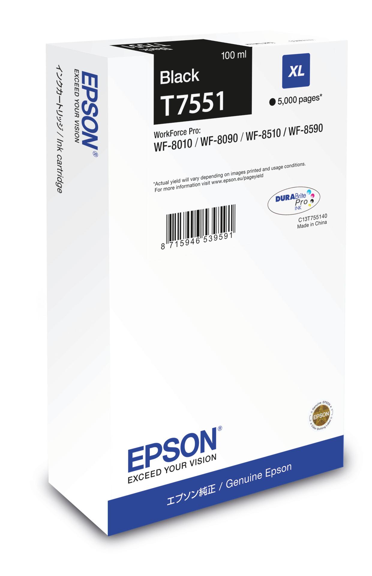 Epson Cartucho T7551 negro XL