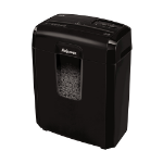 "Fellowes Powershred 8MC Micro-Cut Shredder paper shredder Micro-cut shredding 8.66"" (22 cm) Black"