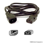 Belkin PRO Series Computer-Style AC Power Extension Cable 0.9m Black power cable