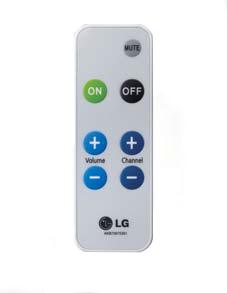 LG LCA-RCU02 remote control IR Wireless TV Press buttons